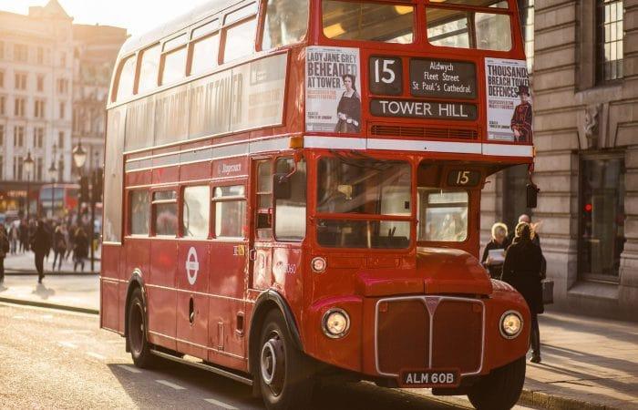 Bus en Londres para turistas