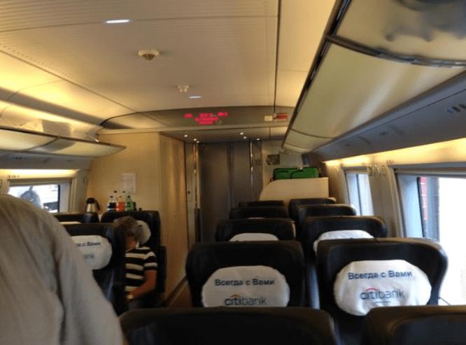 Vagón del tren Sapsan