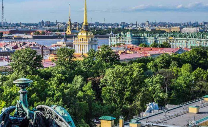 Centro de San Petersburgo panoramica