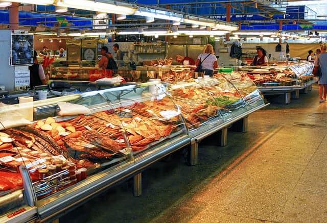 De compras por Riga el mercado viejo