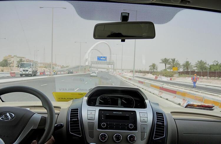 En transporte por Doha