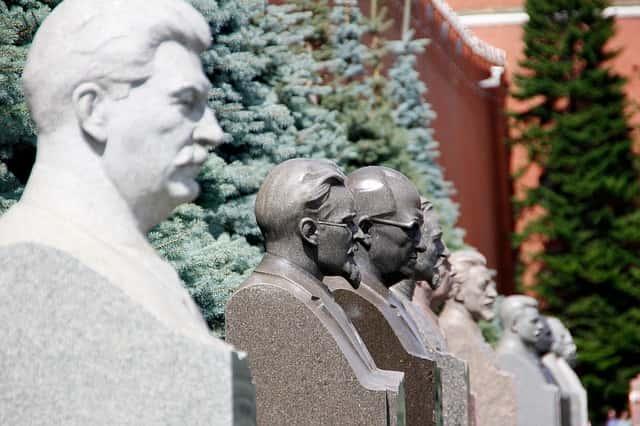 Stalin en la plaza roja