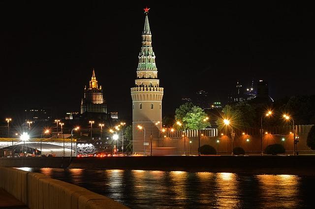 Panoramica nocturna del Kremlin