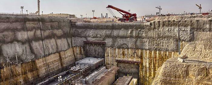 Metro de Doha construcción