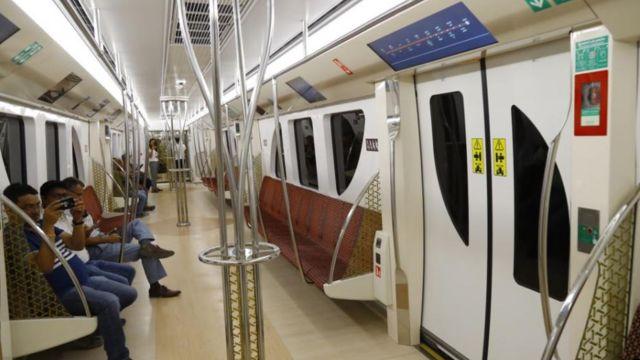 Los vagones del metro de qatar