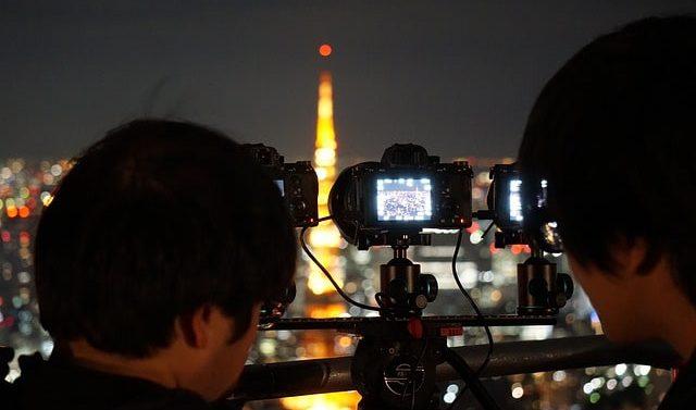 Sacar fotos desde el edificion del gobierno de tokio.