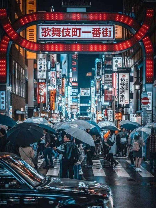 Tour nocturno de Tokio