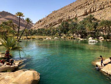 Wadi Shaab en Omán