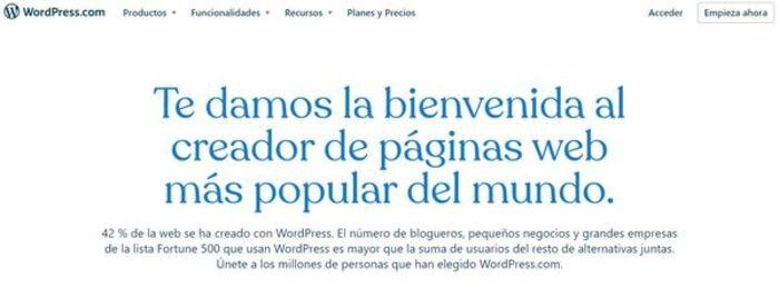 Comenzar ahora con Wordpress